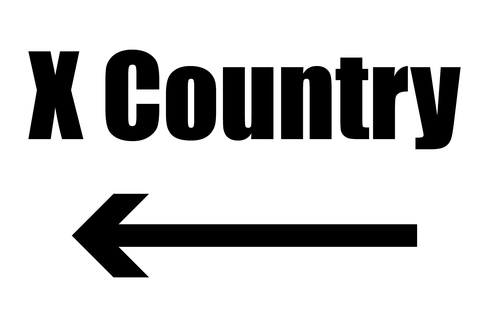 Cross Country Directional Sign