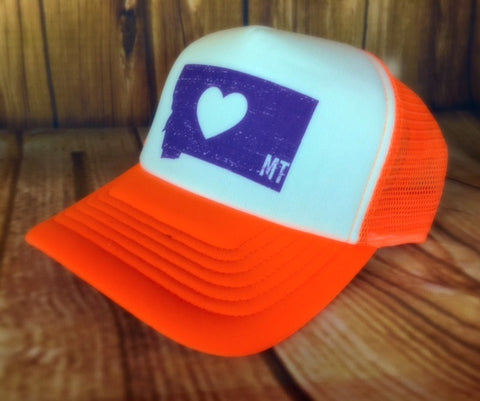 MSC Orange Neon Trucker Hat - The Northern Boutique in Billings MT
