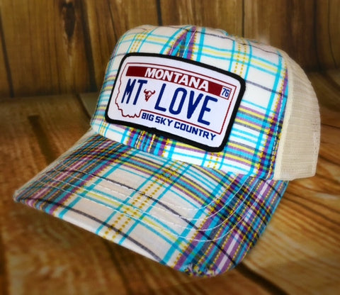 MSC MT Love Plaid Hat - The Northern Boutique in Billings MT