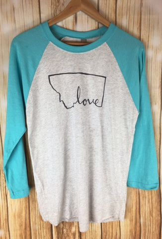 Montana Shirt Co. Love Script MT Tee - The Northern Boutique in Billings MT