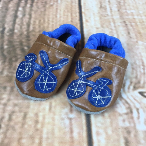 Starry Knight Designs Bicycle Kids Moccasins - The Northern Boutique in Billings MT