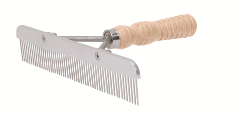 Wood Handle Comb with Stainless Steel Blade
