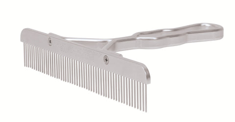 Aluminum Handle Comb with Stainless Steel Blade