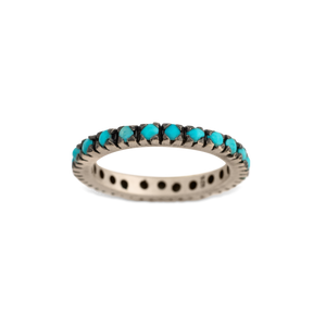 Turquoise Single Row Ring