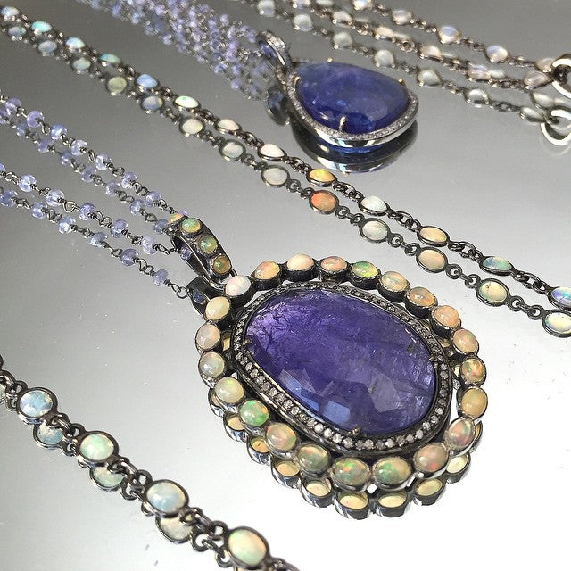 Organic Tanzanite Necklace