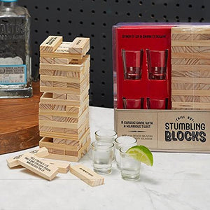 Stumbling Blocks & Shot Glass Set