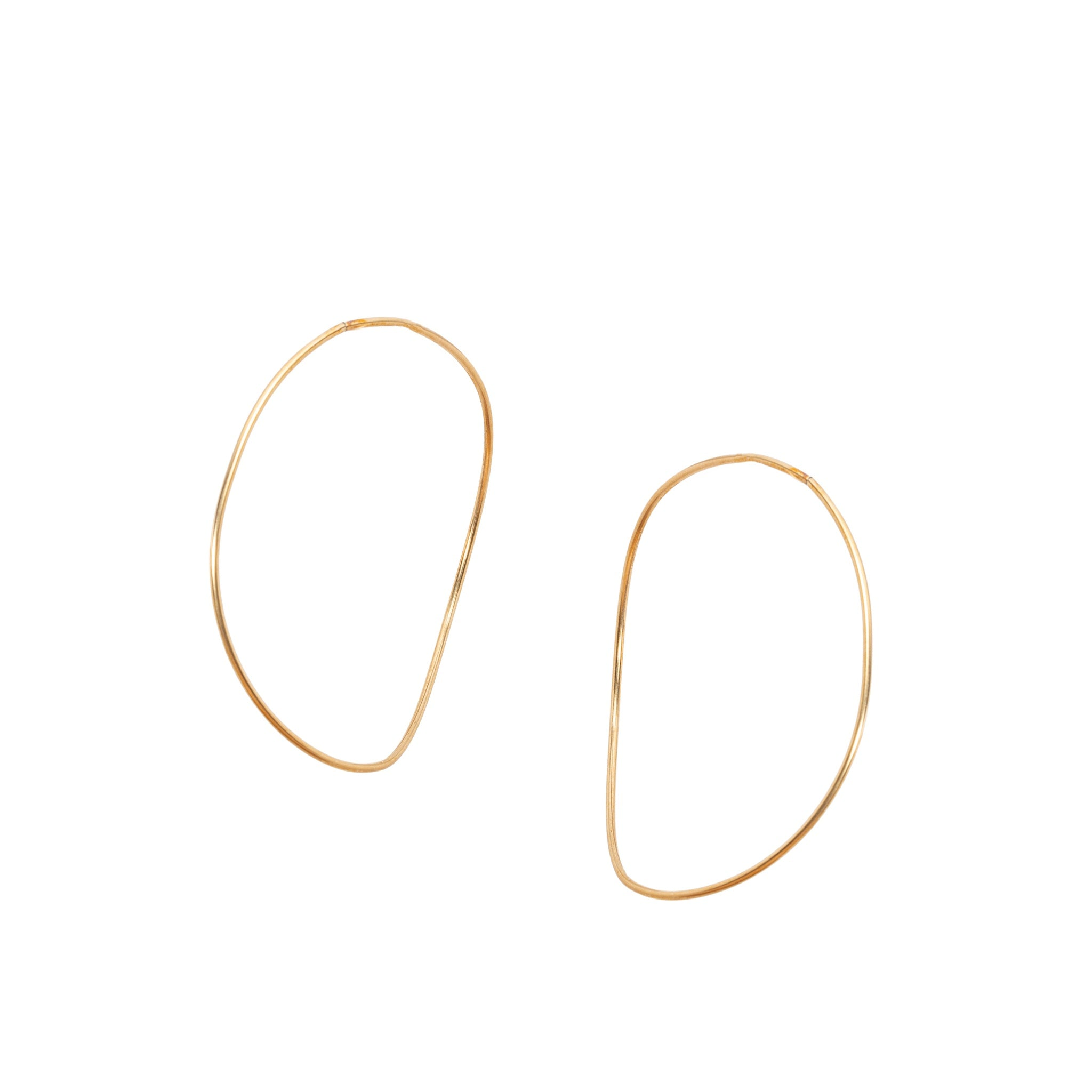 Gold 'Warped' Hoops