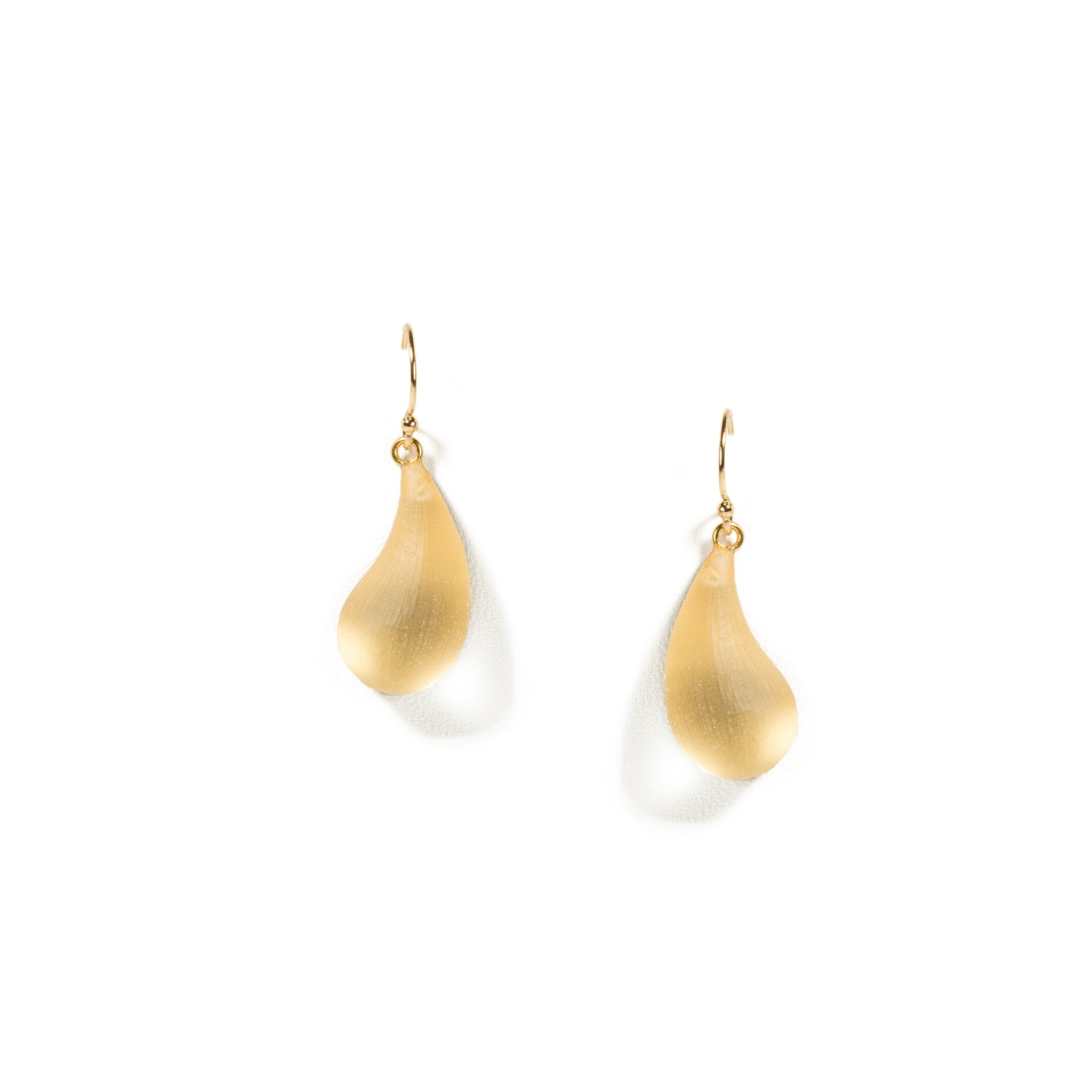 Gold Lucite Dewdrop Earrings