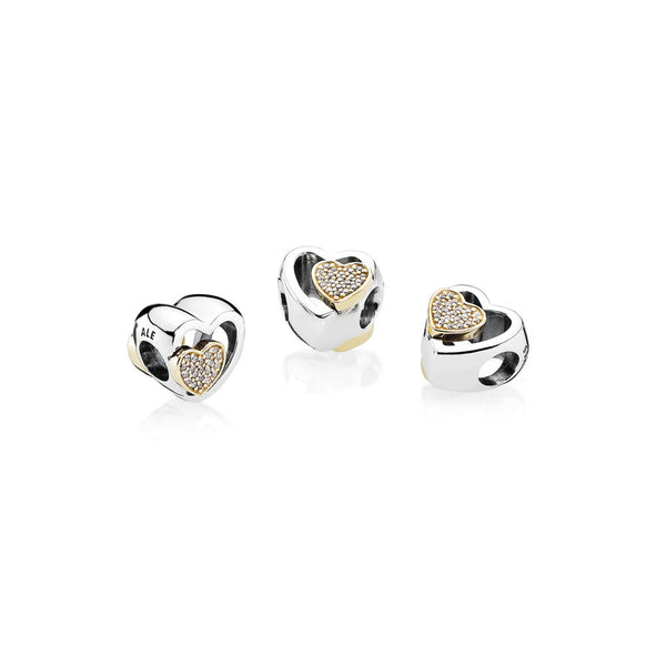 PANDORA Joined Together Charm, Clear CZ