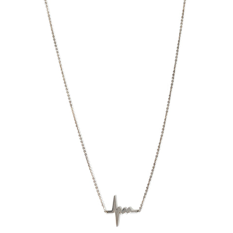 Amour Tiny Hearbeat Necklace in Silver