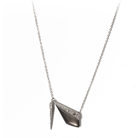Silver Chain Lucite Necklace