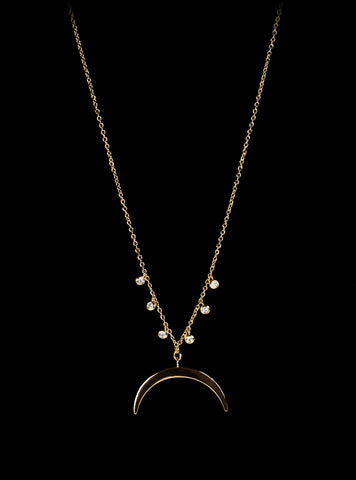 Skinny Crescent Necklace