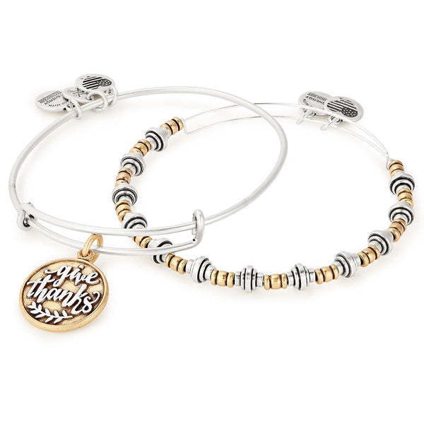 Alex and Ani Give Thanks Set of 2