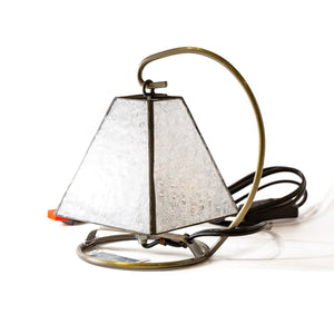 Clear Textured Glass Vintage Lamp