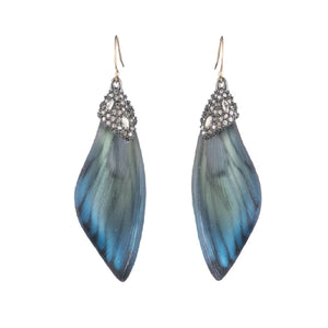 Brutalist Butterfly Wing Drop Earrings