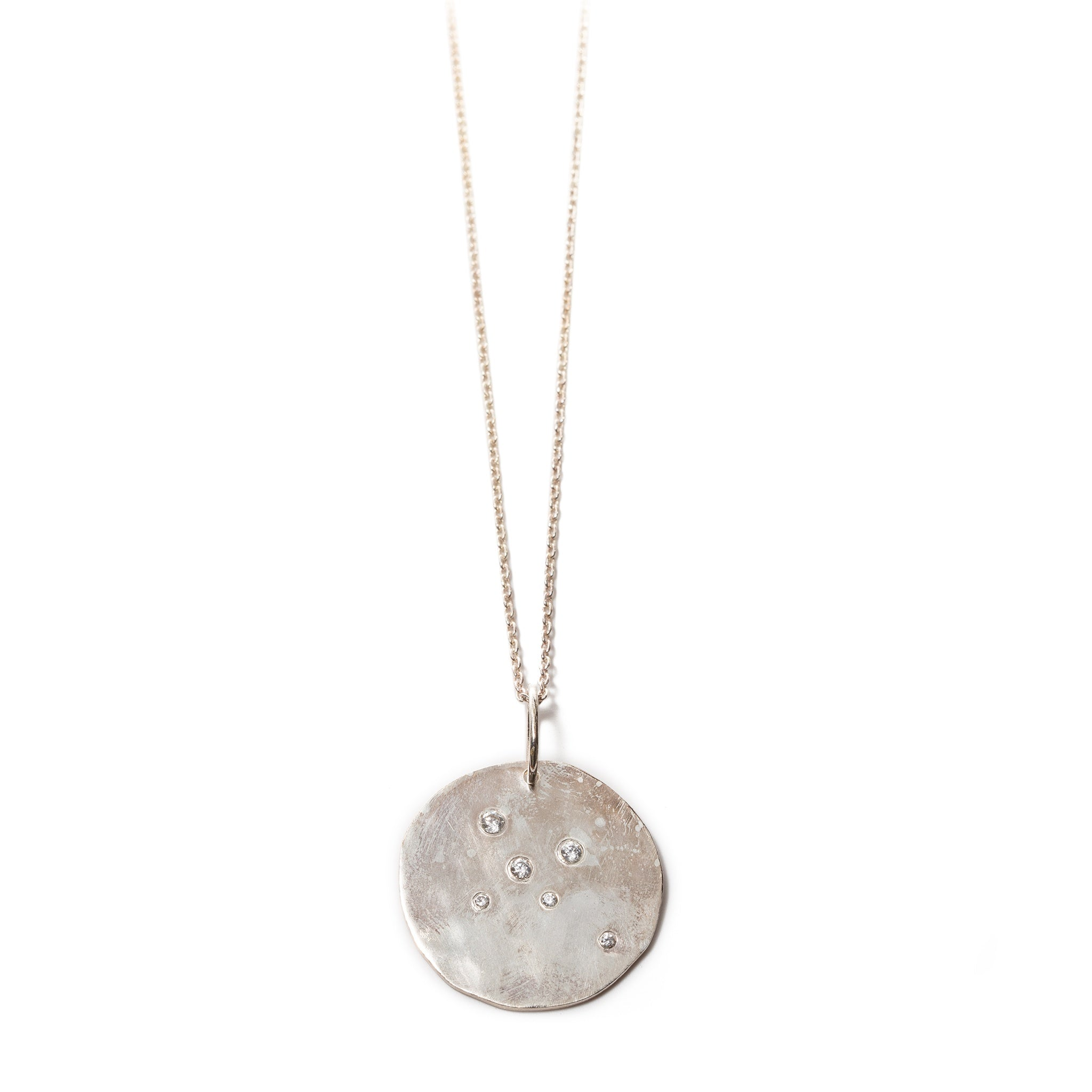 Large Silver Constellation Pendant Necklace