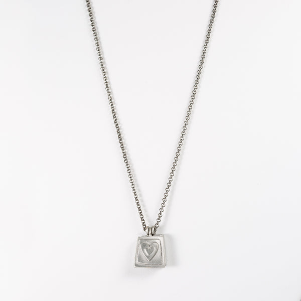 Plated Antique Chain With Pewter Locket