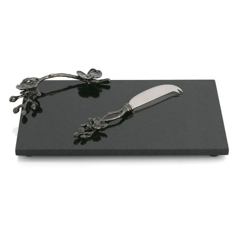Black Orchid Cheese Board w/ Small Knife