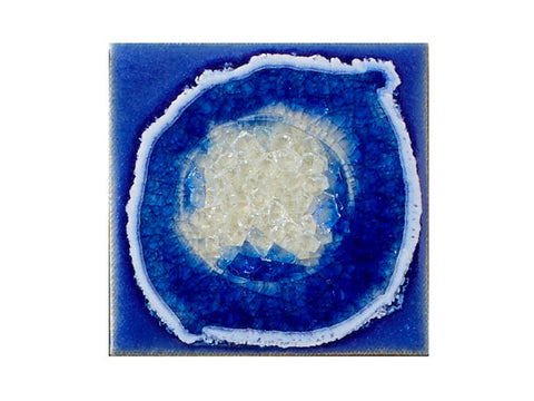 Ceramic Coaster by Dock6 Pottery Deep Blue