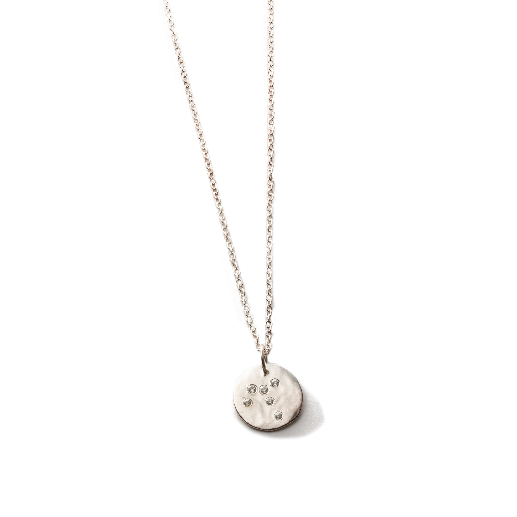 Small Silver Constellation Pendant Necklace