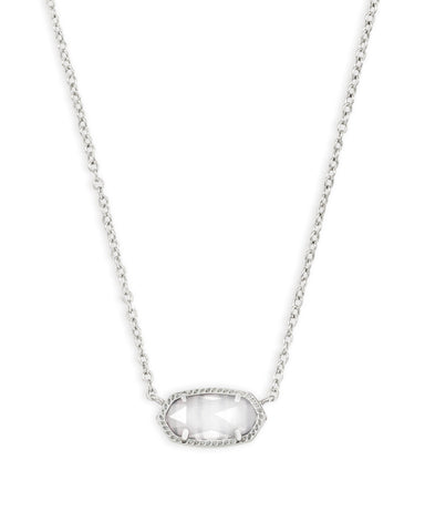 Elisa Silver Pendant Necklace In Slate