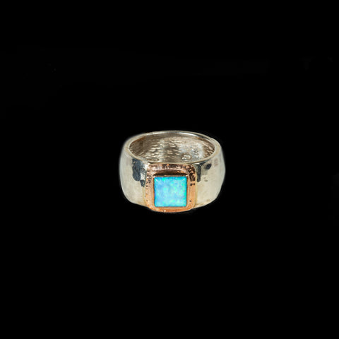 925 Silver Ring With Opal