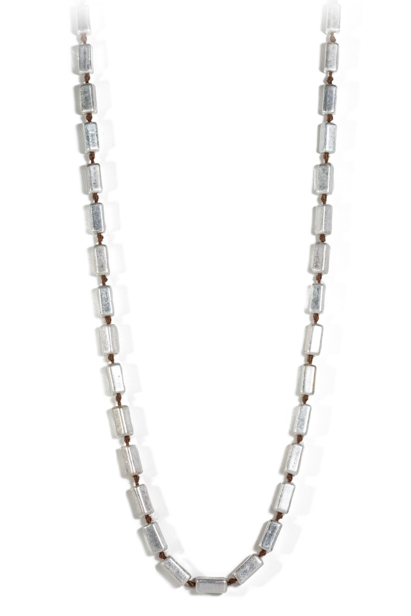 Silver Block Necklace