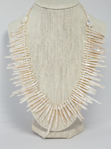 Spike Pearl Necklace