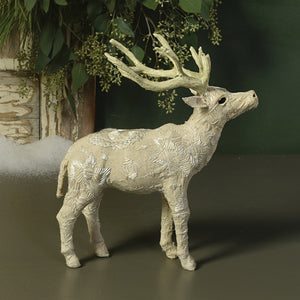 Small Standing White Scandinavian Stag