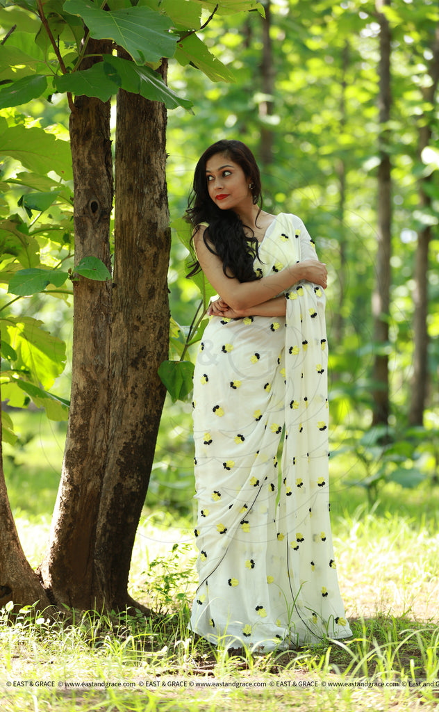 Yellow Crocus Saree