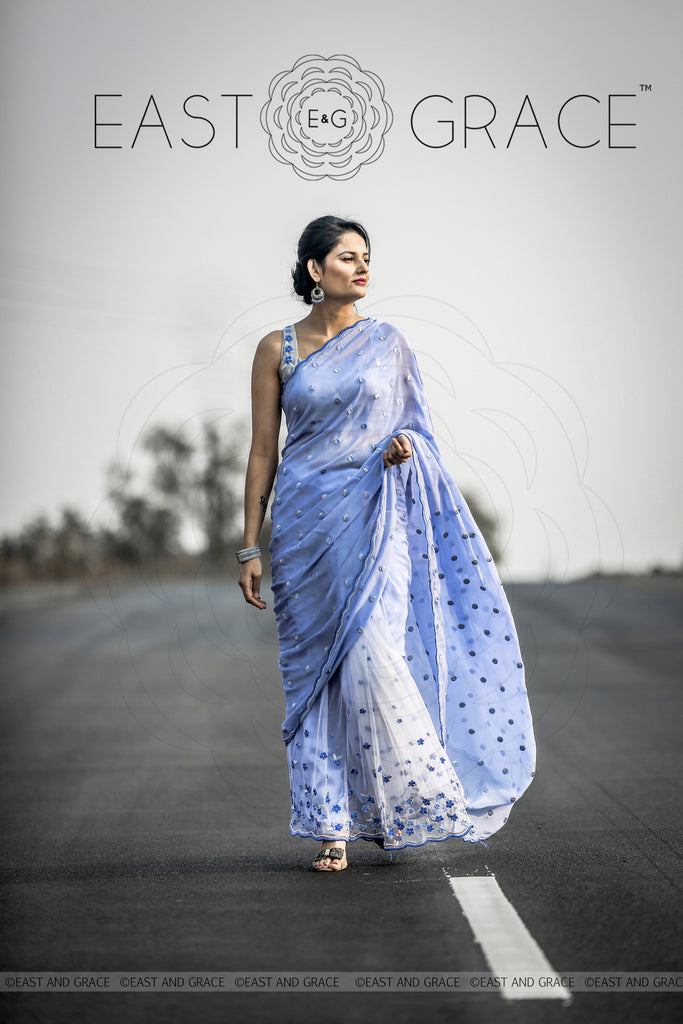Forget-Me-Not Saree