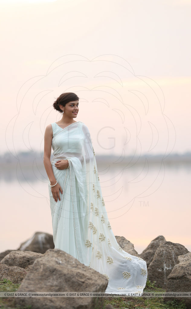 Pearl & Mint Saree