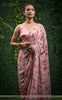Sameera Pure Silk-Crepe Floral Printed and Pearl Embroidered Border Saree