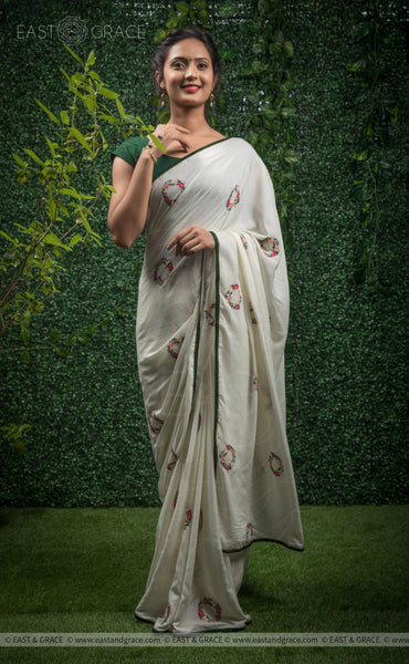 Shaurya Modal Cotton Handcrafted and Embroidered Saree