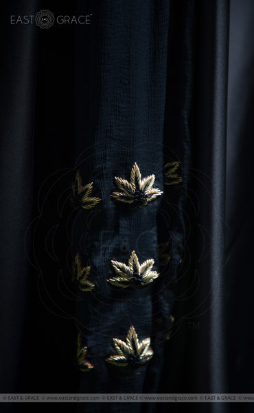 Lavanya Satin Handcrafted and Embroidered Navy Blue Dress