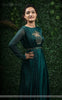 Mriganka Satin Handcrafted and Embroidered Dark Green Dress