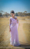 Lavender Breeze Pure Silk-Organza Hand Embroidered Saree