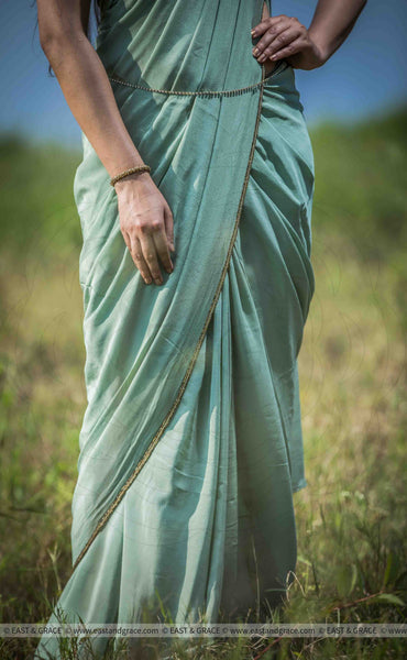 Hornet Pure Silk-Crepe Hand Embroidered Saree