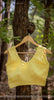 Lemon Yellow Pure Flat Chiffon Designer Blouse with Bow