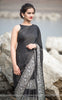Aratrika Black Satin Embroidered Saree