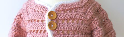 Crochet Baby Sweater by The Lillie Pad
