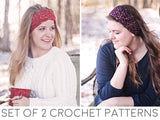 Ear Warmer Headband Crochet Patterns - Set of 2 Patterns