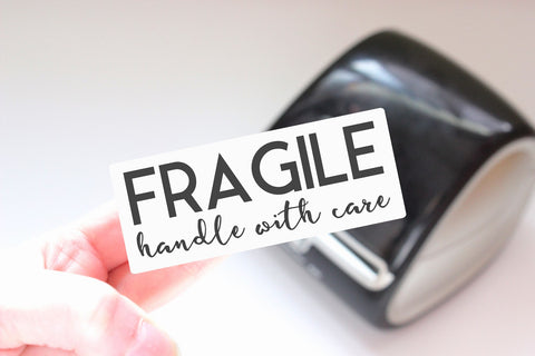 Fragile - Ready-to-Print Dymo compatible Label Designs - Long Design