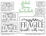 Fragile - Ready-to-Print Dymo compatible Label Designs - Short Rectangular Design