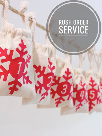 Rush Service for Christmas Advent Calendar Garlands