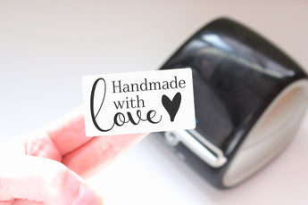 Handmade with Love - Ready-to-Print Dymo compatible Label Designs - Rectangular Design