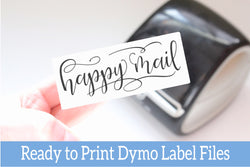 Happy Mail - Ready-to-Print Dymo compatible Label Designs - Long Design