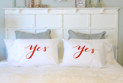 Yes, Tonight & Not Tonight Pillowcases