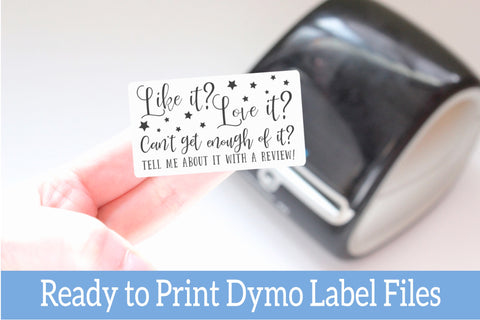 Like It, Love It, Leave a Review - Ready-to-Print Dymo compatible Label Designs - Rectangular Design