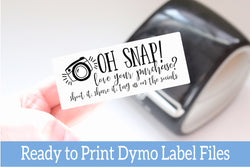 Oh Snap Love Your Purchase - Ready-to-Print Dymo compatible Label Designs - Long Design